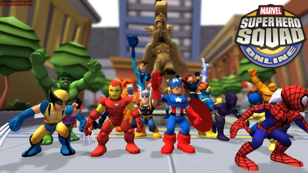 MARVEL SUPER HERO SQUAD online superhero hero heroes 1mshs action fighting comics wallpaper