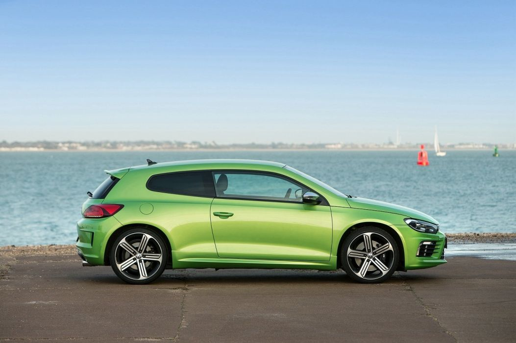 Volkswagen Scirocco R UK-spec coupe cars 2014 wallpaper