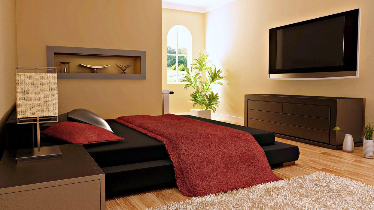 Beauty bedroom design Happy House interior luxury relax sofa style Villa Windows tv wallpaper