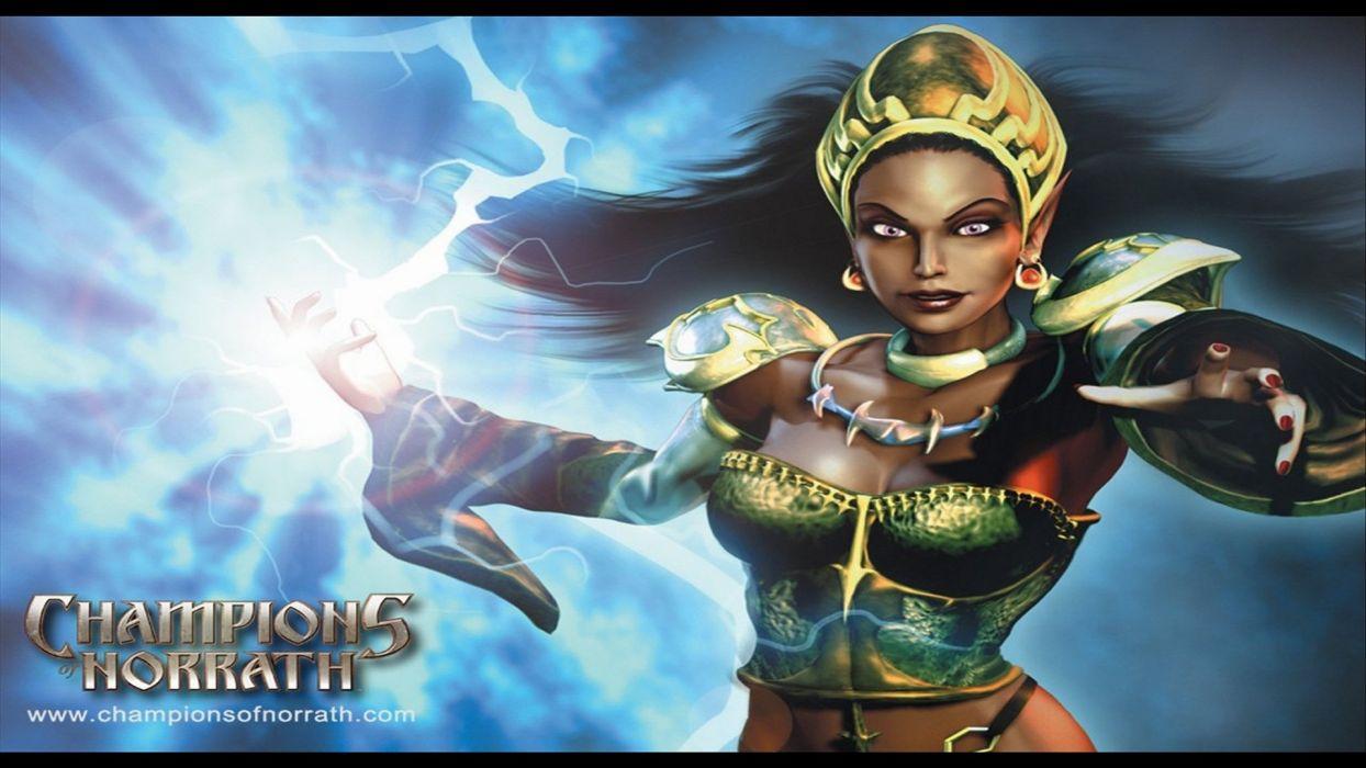 CHAMPIONS OF NORRATH Realms EverQuest online action fighting rpg fantasy adventure 1xnre elf elves warrior girl poster wallpaper