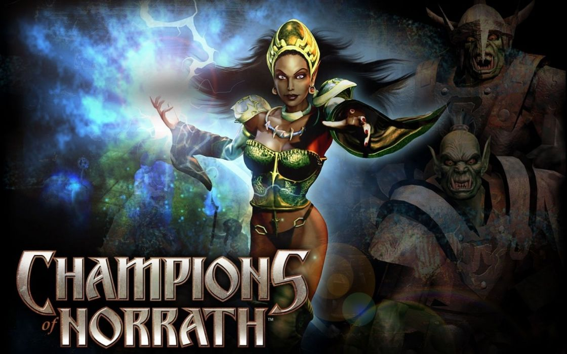 CHAMPIONS OF NORRATH Realms EverQuest online action fighting rpg fantasy adventure 1xnre elf elves warrior poster magic wallpaper