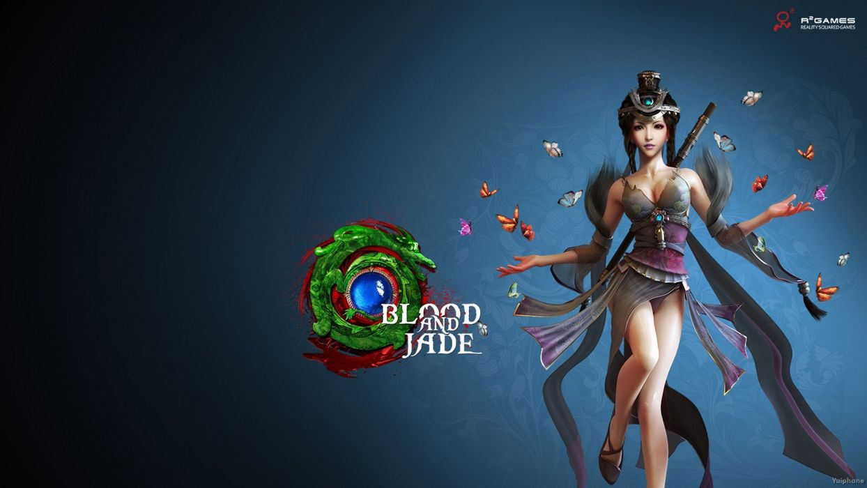 BLOOD AND JADE asian fantasy mmo rpg action fighting gods martial kung strategy 1bjade adventure girl warrior sexy babe wallpaper