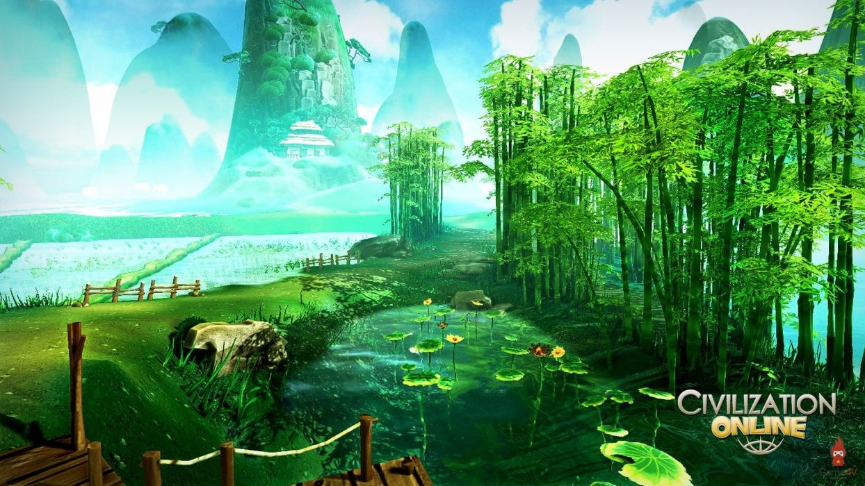 CIVILIZATION ONLINE empire building mmo rpg fantasy strategy adventure 1civilo history detail sci-fi artwork jungle bamboo scenic landscape wallpaper