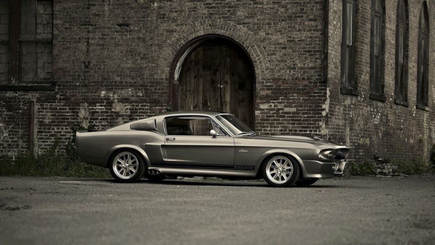 Ford Mustang Shelby GT500 ELEANOR gray wall build cars speed motors wallpaper