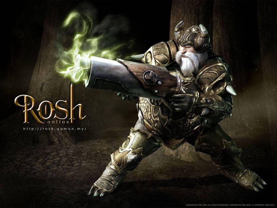 ROSH ONLINE fantasy mmo rpg action fighting 1rosho return karos hero heroes detail warrior artwork poster wallpaper