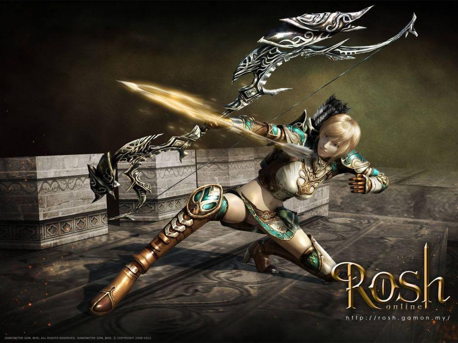ROSH ONLINE fantasy mmo rpg action fighting 1rosho return karos hero heroes detail warrior artwork magic poster girl wallpaper
