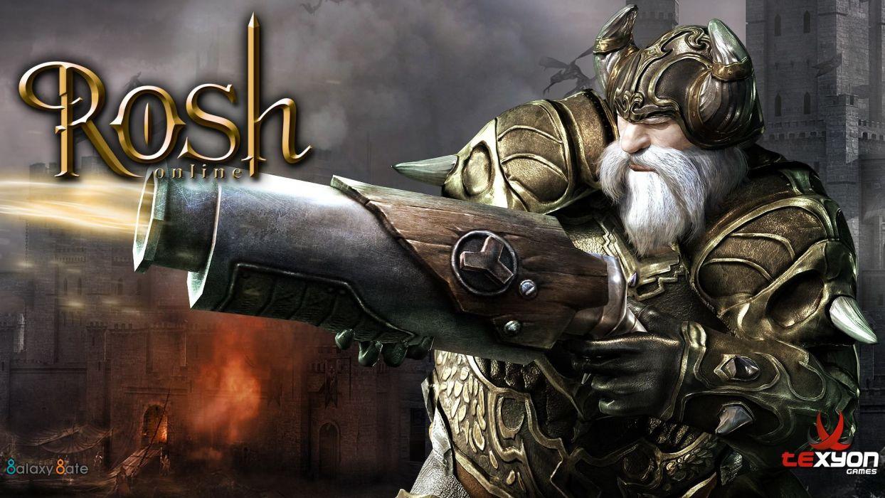 ROSH ONLINE fantasy mmo rpg action fighting 1rosho return karos hero heroes detail warrior artwork magic poster wallpaper