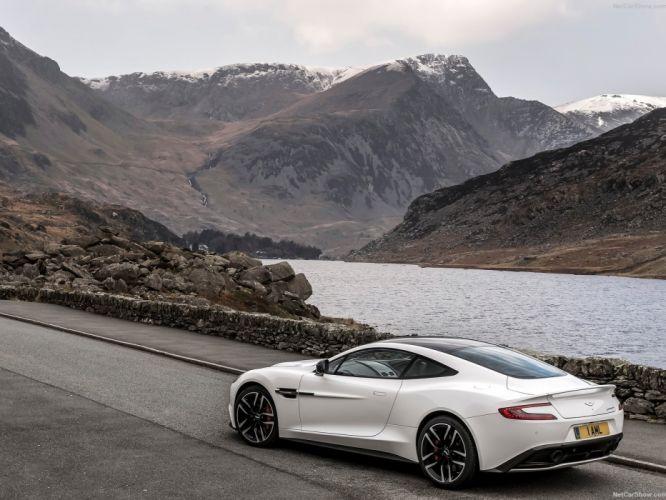 Aston Martin Vanquish Carbon White cars supercars 2015 wallpaper