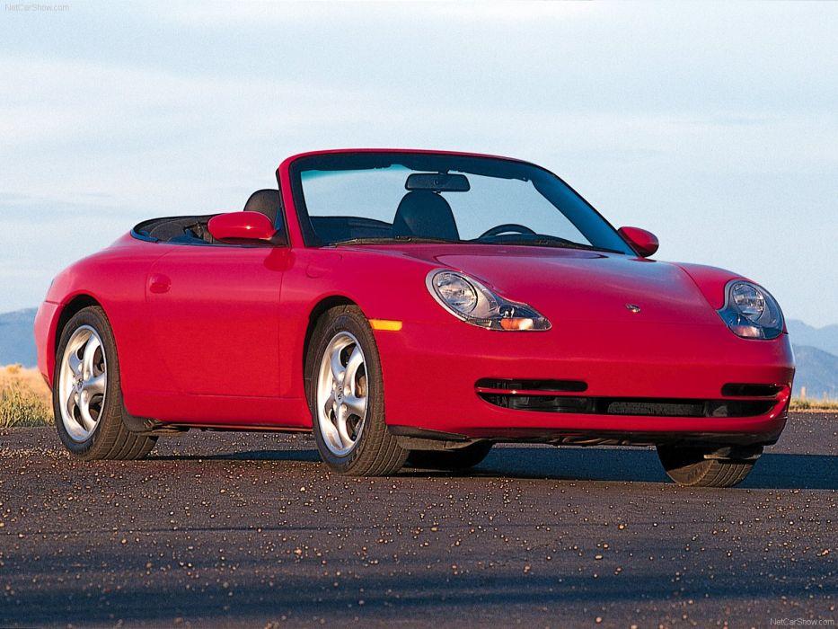 Porsche 911 Carrera Cabriolet 2001 cars red wallpaper