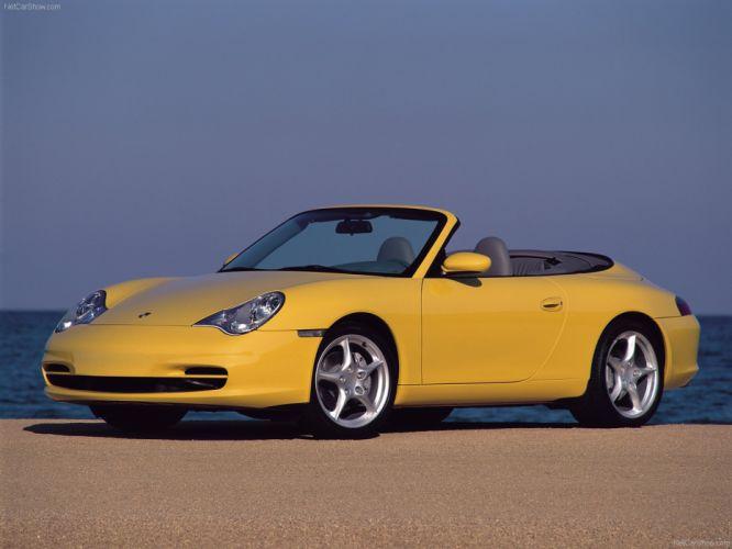 Porsche 911 Carrera 4 cars cabriolet 2002 wallpaper