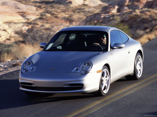 Porsche 911 Carrera coupe cars 2003 wallpaper