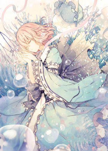 anime girl dress water bubble short hair beautiful wallpaper