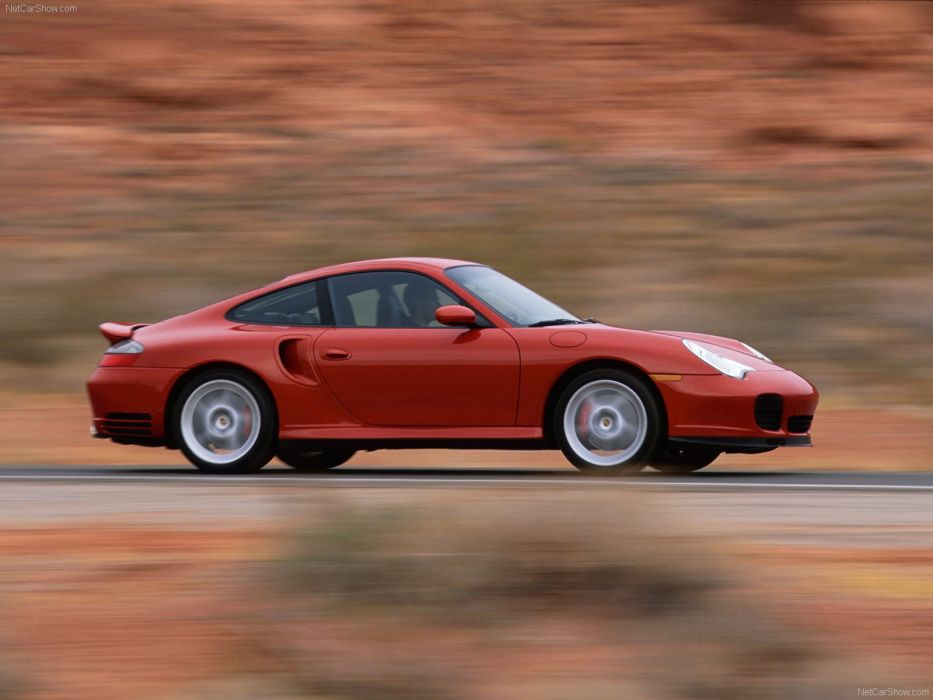 Porsche 911 Turbo coupe cars 2003 wallpaper