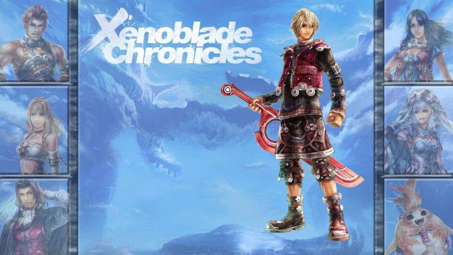 XENOBLADE Chronicles zenobureido sci-fi rpg fantasy 1xeno action adventure fighting exploration anime warrior wallpaper
