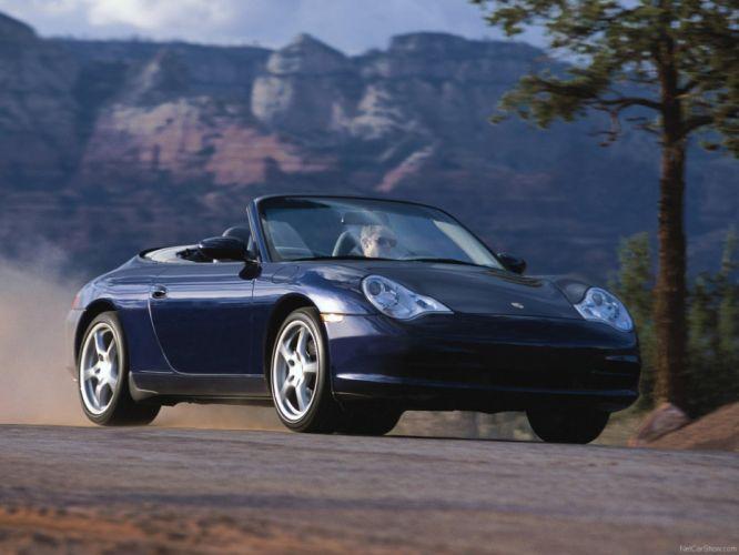 Porsche 911 Carrera 4 Cabriolet convertible cars 2004 wallpaper