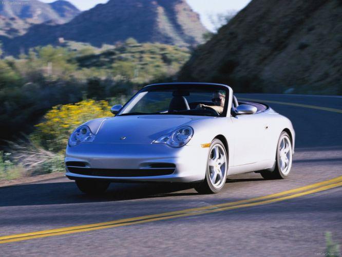 Porsche 911 Carrera Cabriolet convertible cars 2004 wallpaper