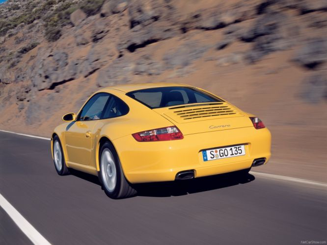 Porsche 911 Carrera coupe cars 2005 wallpaper