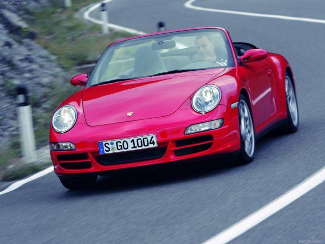 Porsche 911 Carrera 4S Cabriolet convertible cars 2006 wallpaper