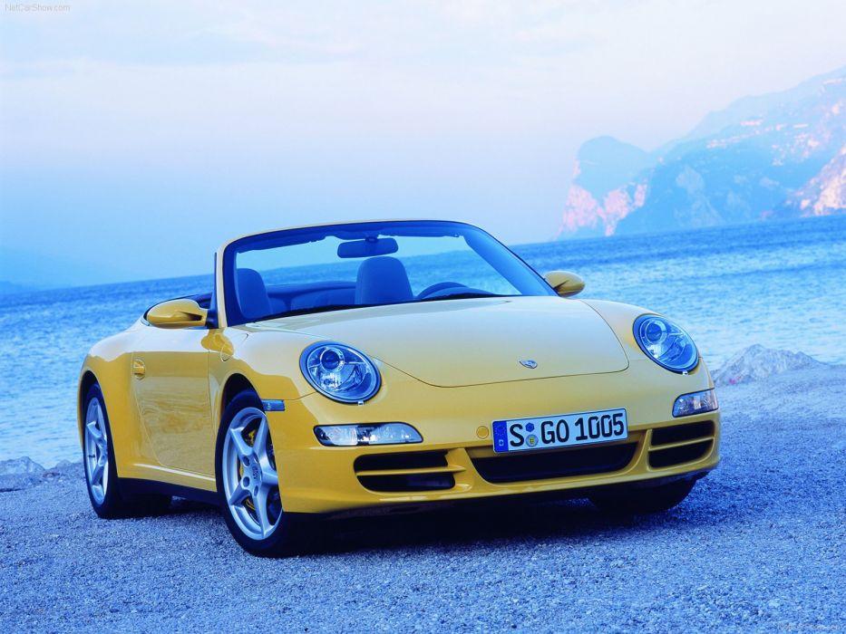 Porsche 911 Carrera 4 Cabriolet convertible cars 2006 wallpaper