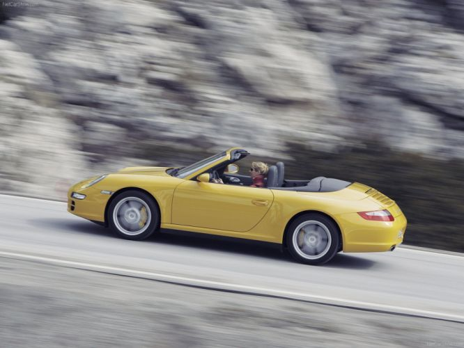 Porsche 911 Carrera 4 Cabriolet convertible cars 2006 wallpaper