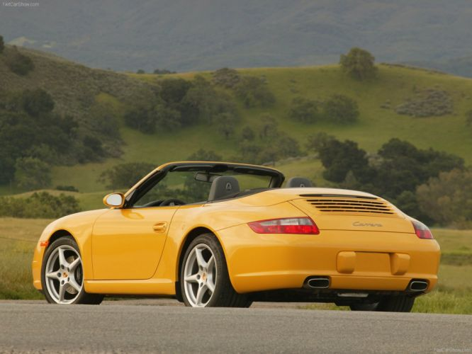Porsche 911 Carrera Cabriolet convertible cars 2006 wallpaper