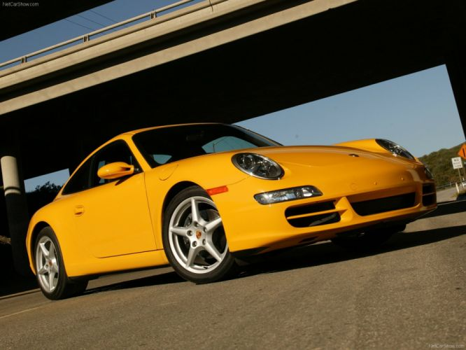Porsche 911 Carrera Coupe cars 2006 wallpaper