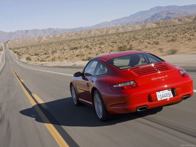 Porsche 911 Carrera 4 coupe cars 2007 wallpaper