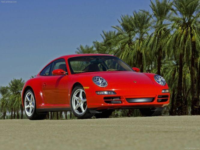 Porsche 911 Carrera 4 coupe cars 2007 wallpaper