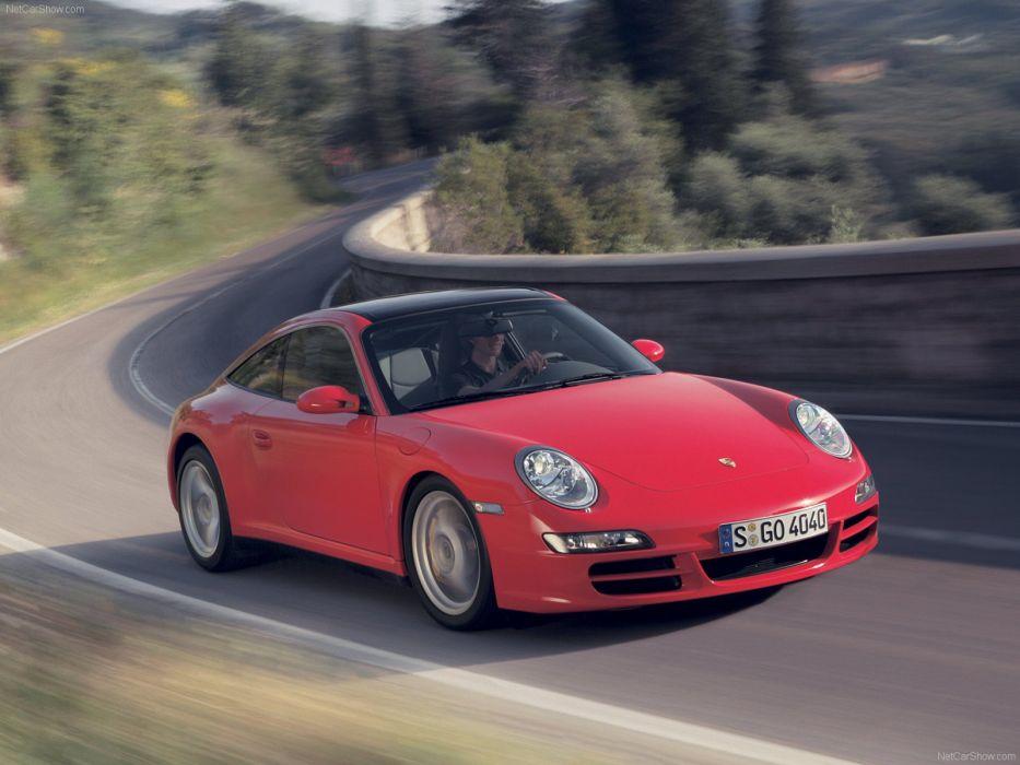 Porsche 911 Targa 4 coupe cars 2007 wallpaper