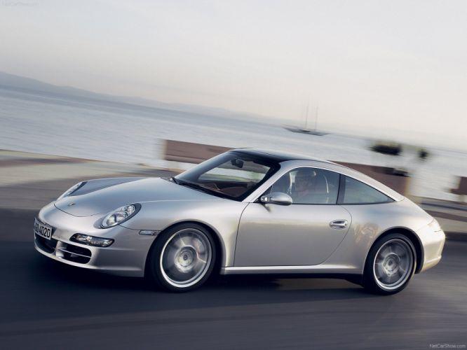 Porsche 911 Targa 4s coupe cars 2007 wallpaper