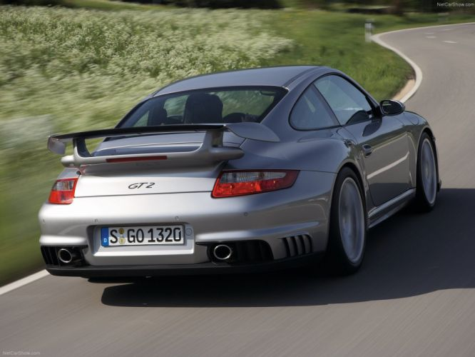 Porsche 911 GT2 coupe cars 2008 wallpaper