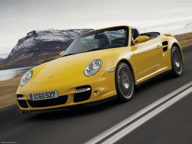 Porsche 911 Turbo Cabriolet convertible cars 2008 wallpaper