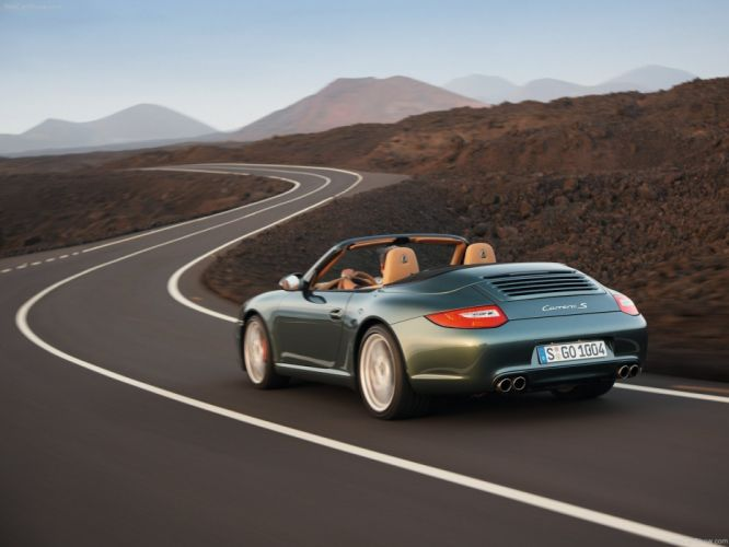 Porsche 911 Carrera S cabriolet convertible 2009 cars wallpaper