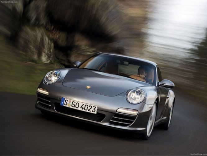 Porsche 911 Carrera 4 coupe cars 2009 wallpaper