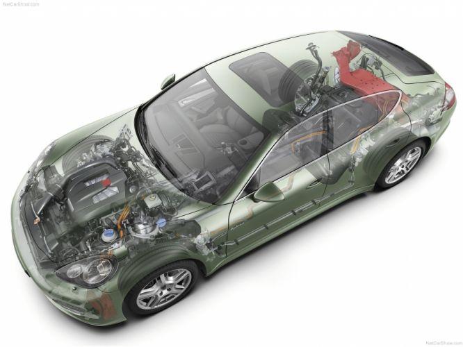 Porsche Panamera S Hybrid cars 2012 technical wallpaper