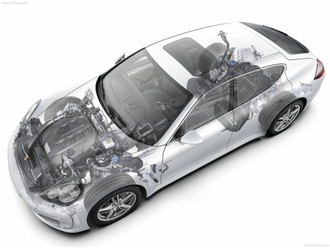 Porsche Panamera Diesel cars 2012 technical wallpaper
