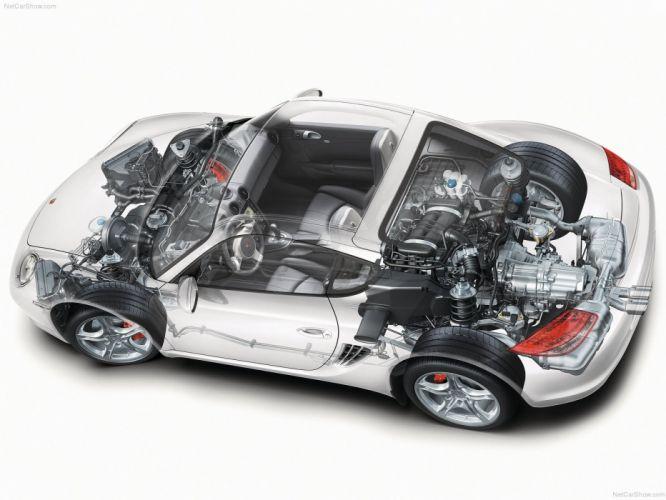 Porsche Cayman S 2009 cars technical wallpaper