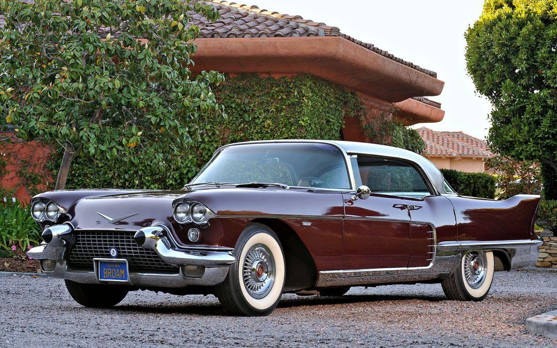 1958 Cadillac Eldorado brown cars old classic houses motors trees town wallpaper