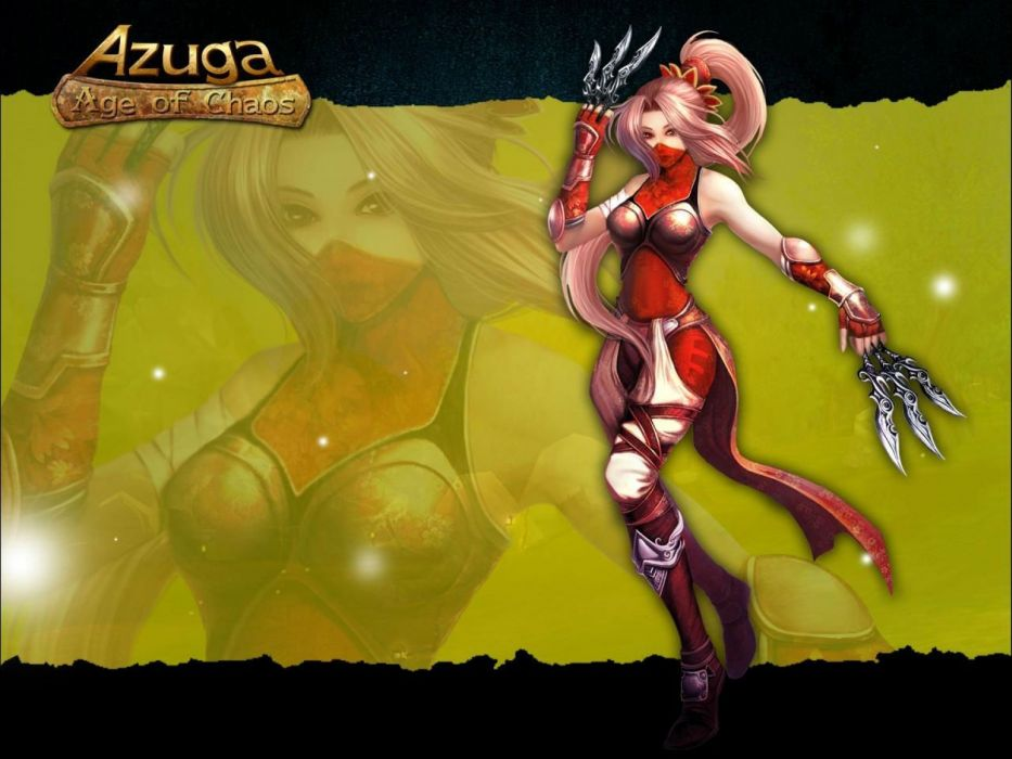 AGUZA Age Chaos fantasy mmo rpg action fighting martial kung magic sci-fi 1azuga titans online asian warrior poster warrior girl wallpaper