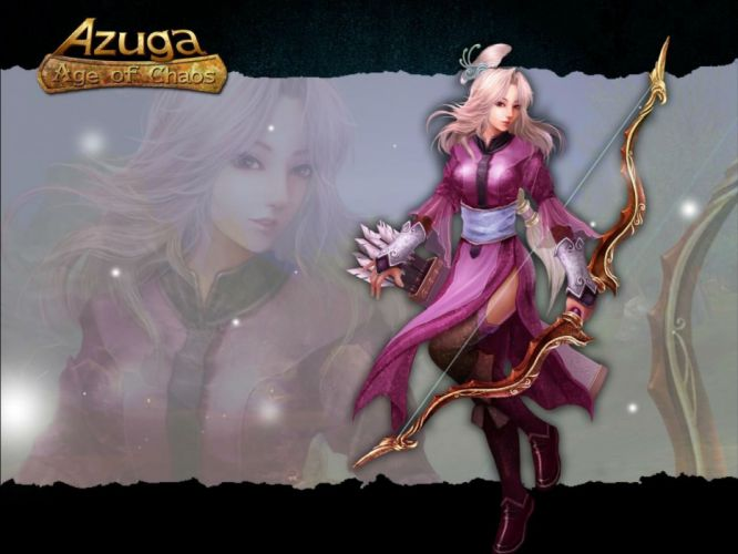 AGUZA Age Chaos fantasy mmo rpg action fighting martial kung magic sci-fi 1azuga titans online asian warrior poster warrior girl archer wallpaper