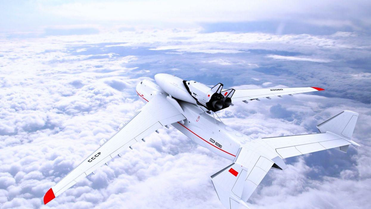 Antonov An-225 Mriya sky clouds flights fly planes travelers air wallpaper