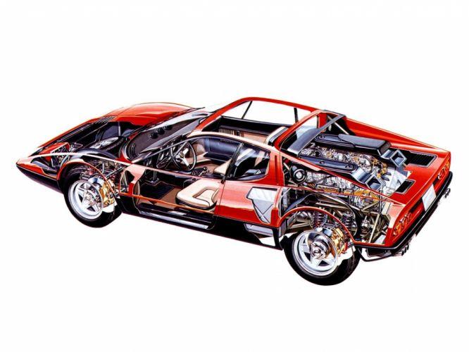 1973 Ferrari 365 GT4 classic cars technical wallpaper