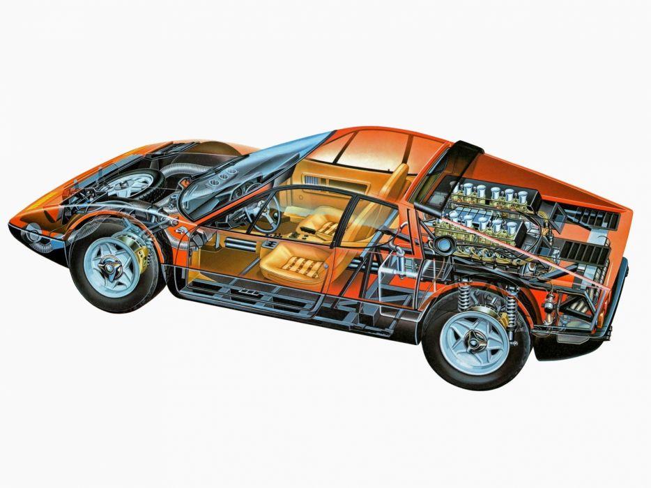 ferrari 365 gt4 berlinetta boxer cars technical wallpaper