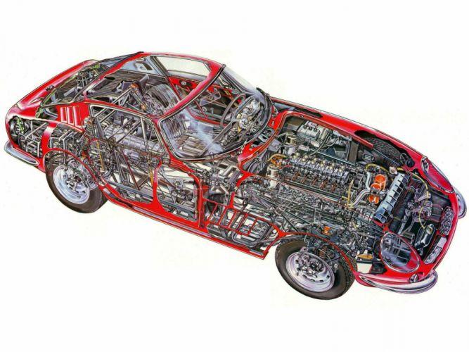Ferrari 275 gtb cars technical wallpaper