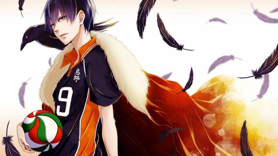 haikyuu anime series basketball feather guy crow wallpaper