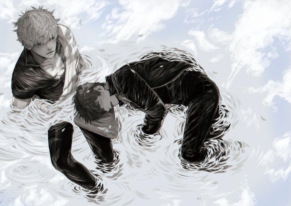 anime series boys gintama wallpaper