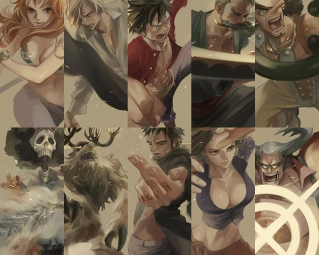 anime series one piece characters wallpaper
