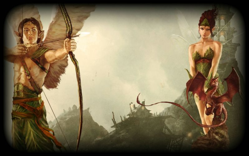 FAERY Legends of Avalon fantasy rpg adventure fairy action exploration fighting warrior archer dragon wallpaper
