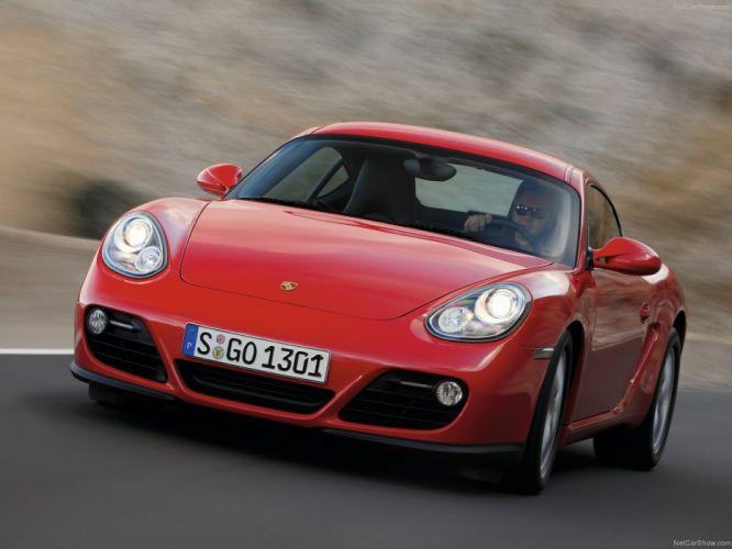 Porsche Cayman cars coupe 2009 wallpaper