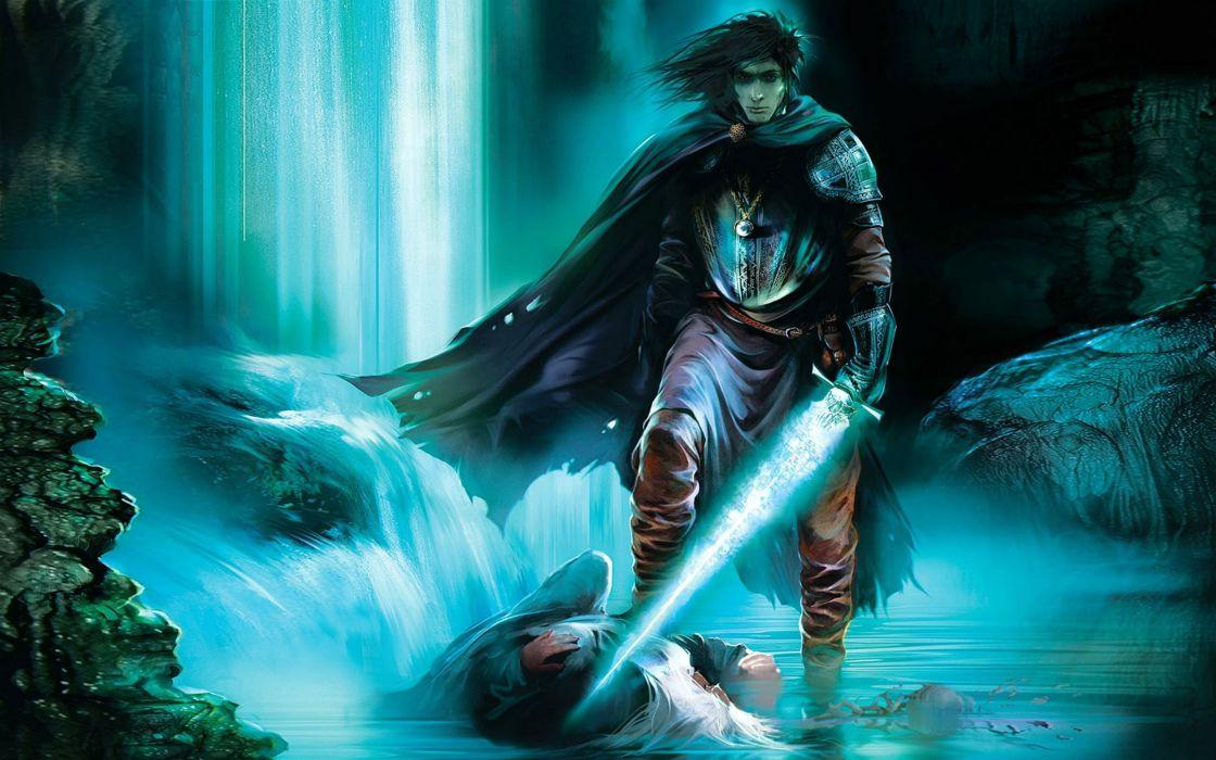 HEROES Annihilated Empires fantasy strategy rpg action fighting 1hoae elf elves series medieval warrior sword waterfall magic artwork wallpaper